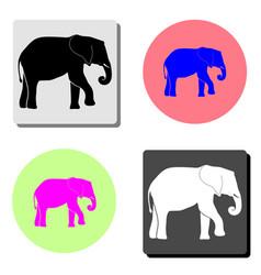elephant flat icon vector image