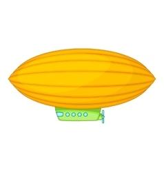 Elliptical airship icon cartoon style vector
