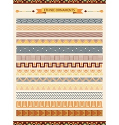 Ethnic seamless ornaments and pattern brushes vector