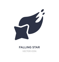 Falling star icon on white background simple vector