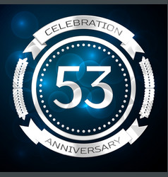 fifty three years anniversary celebration with vector image