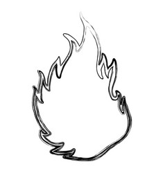 fire burn silhouette vector image
