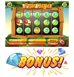 Game design with fruit magic vector image