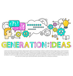 generation ideas poster text vector image