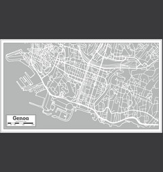 Genoa italy city map in retro style royalty free vector altavistaventures Choice Image