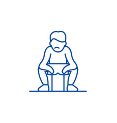 get tired line icon concept get tired flat vector image