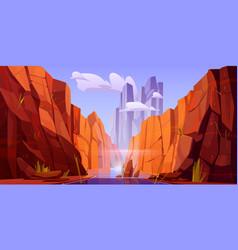 grand canyon with river on bottom park arizona vector image