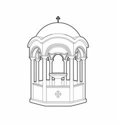 Greek phial design vector