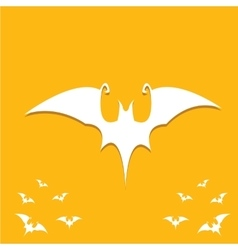 halloween bat icon vector image