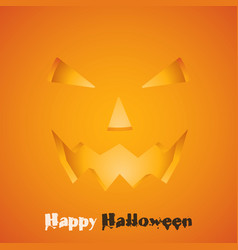 halloween pumpkin with scary face eps 10 vector image
