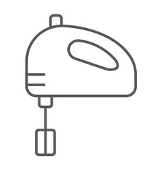 hand mixer thin line icon kitchen and cooking vector image