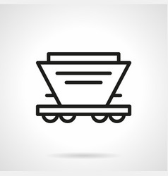Hopper car simple line icon vector