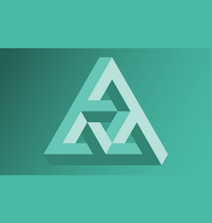 Impossible triangle background vector