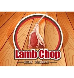 Lamb chop vector