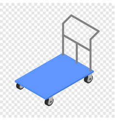 Load cart icon isometric style vector