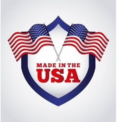 Made in the usa design vector