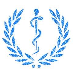 Medical honor laurel wreath grunge icon vector