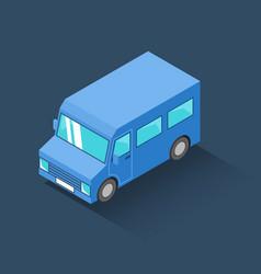 Minibus isometric icon vector