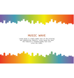 Music wave player colorful equalizer element vector