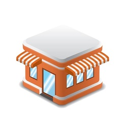 orange shopping store vector image