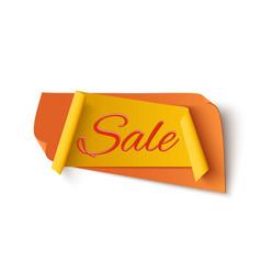 Orange with yellow sale banner vector