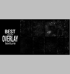 overlays stamp texture with effect grunge damage vector image