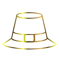 pilgrim hat outline vector image