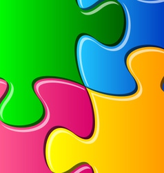 Puzzle pieces detail vector