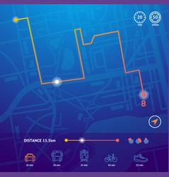 realistic detailed 3d city map navigation concept vector image