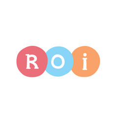 Roi marketing concept return on investment vector