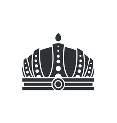 Royal crown in futuristic style complicated design vector