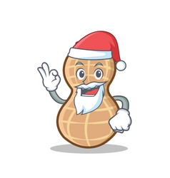 Santa peanut character cartoon style vector