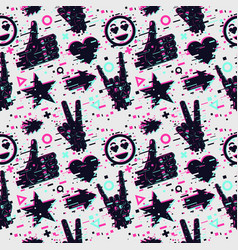 seamless pattern with human hands texture vector image