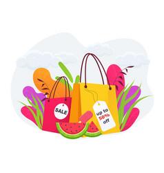 seasonal sale banner discount template vector image