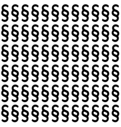 Section signs seamless pattern paragraph vector