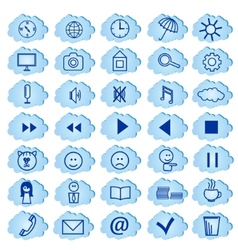 Set of badges icons for a site vector