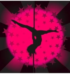 Sexy pole dancer vector image