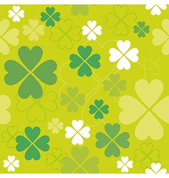 Shamrock seamless pattern Clover backdrop vector