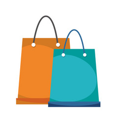 shopping paper bags ecommerce online concept vector image