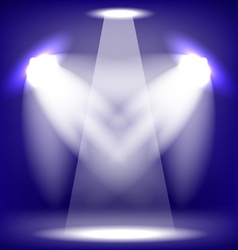 Stage Spotlight Blue Background vector image