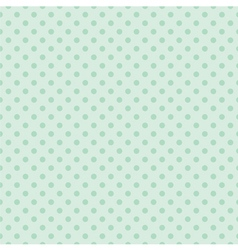 Tile mint green polka dots pattern or background vector
