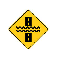 usa traffic road signs there may be water flowing vector image