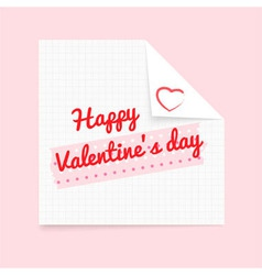 valentine note vector image