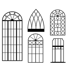 Vintage windows vector
