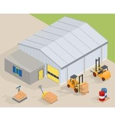 Warehouse equipment vector image vector image