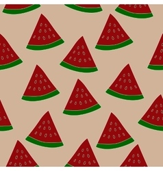Watermelon slice seamless pattern Repeated vector