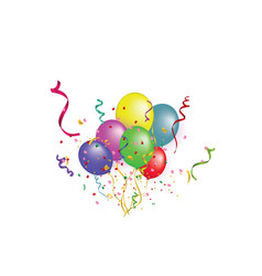 White paper banner colored balloons and colored vector