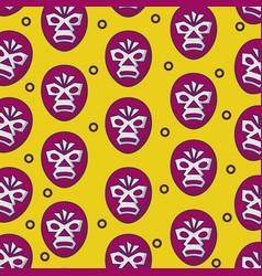 wrestlling masks background vector image