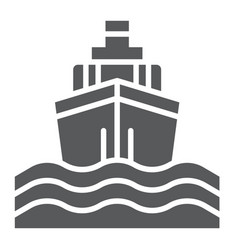 yacht boat trip glyph icon journey and cruise vector image
