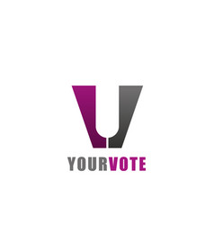 Your vote creative emblem vector